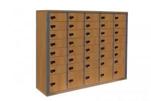 Trieur 5 colonnes structure métal habillage mélaminé (mobilier trieur courriers)