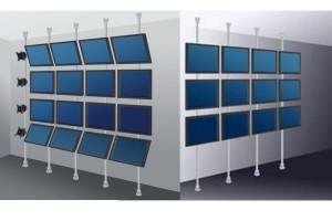 murs d'écrans avec  perches